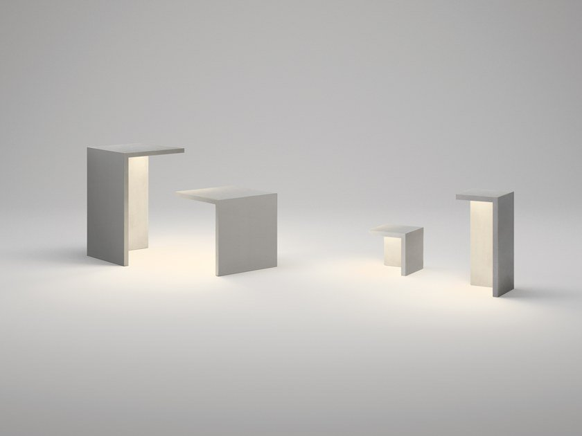 LED cement Floor lamp EMPTY by Vibia