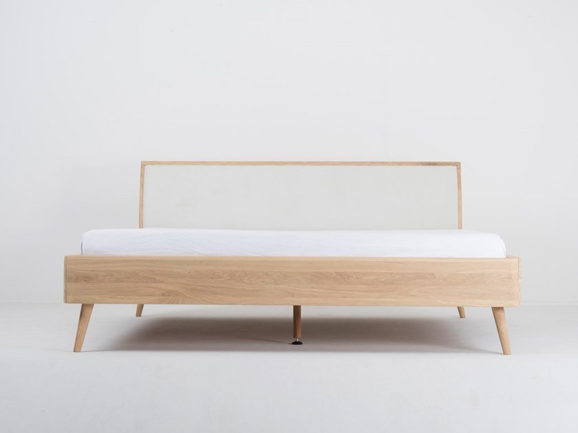 Bed double bed with upholstered headboard ENA | Bed by Gazzda