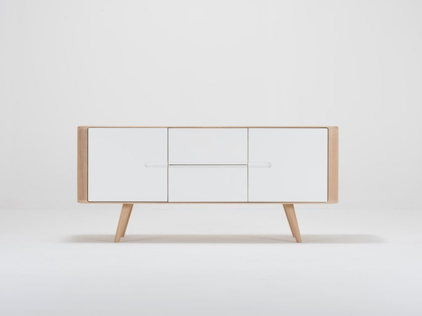 Lacquered sideboard with doors ENA SIDEBOARD by Gazzda