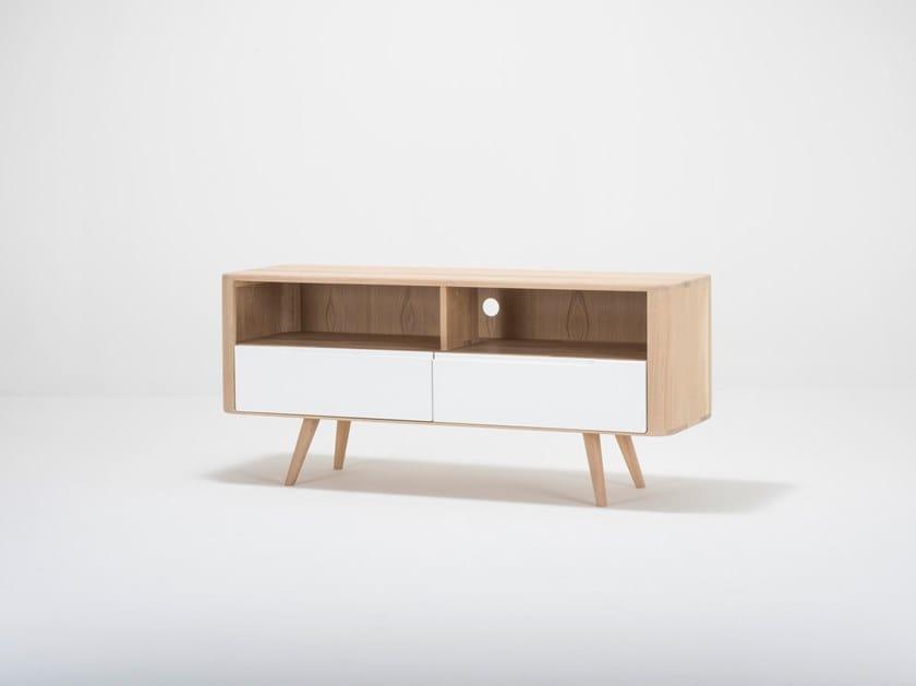 Oak TV cabinet / sideboard ENA TV SIDEBOARD THREE by Gazzda