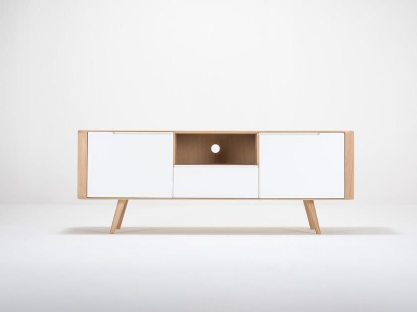 Oak TV cabinet / sideboard ENA TV SIDEBOARD TWO by Gazzda