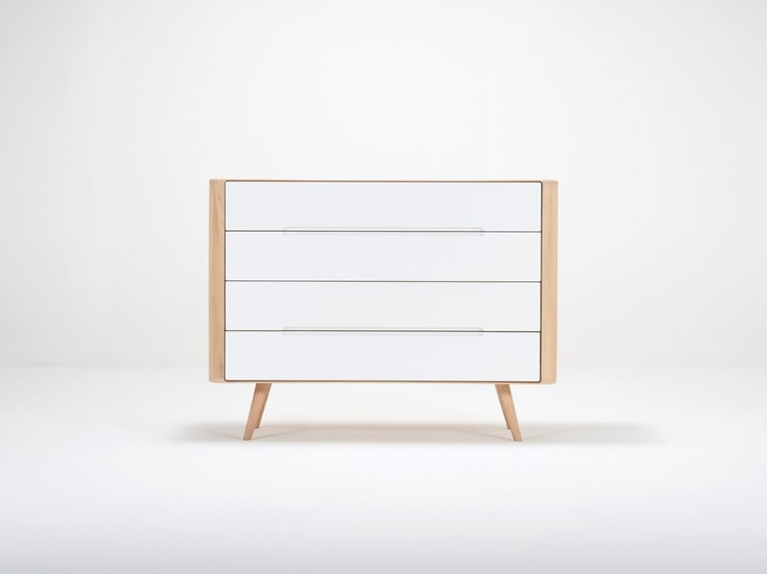 Oak chest of drawers ENA TWO | Chest of drawers by Gazzda