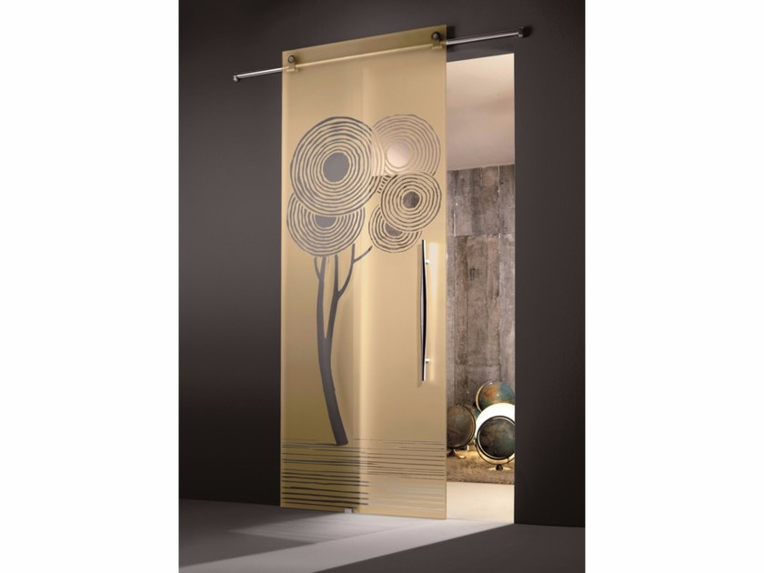 Glass sliding door ENALIOS CHAMPAGNE by Casali