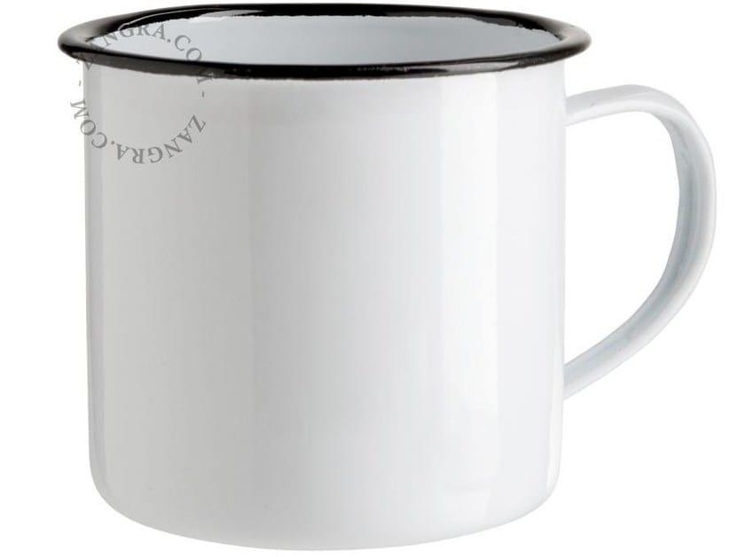 Enamelled metal mug ENAMEL MUG by ZANGRA