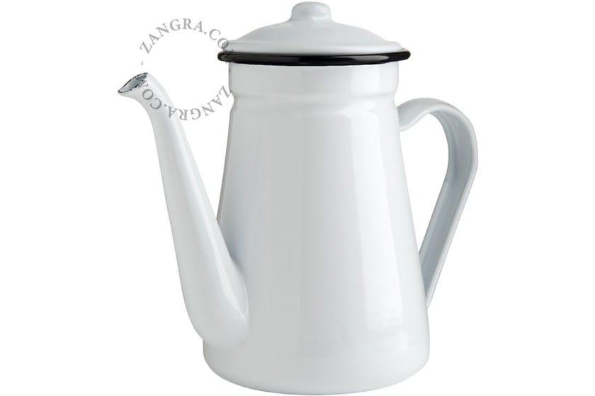 Enamelled metal teapot ENAMEL TEAPOT by ZANGRA