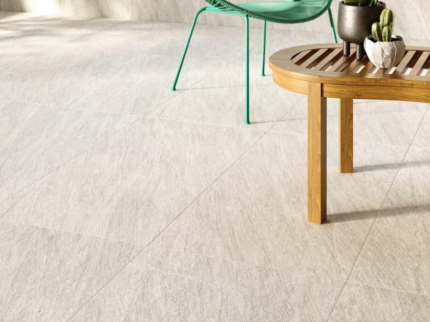 Pavimento/rivestimento in gres porcellanato effetto pietra ENCODE WHITE by Marca Corona