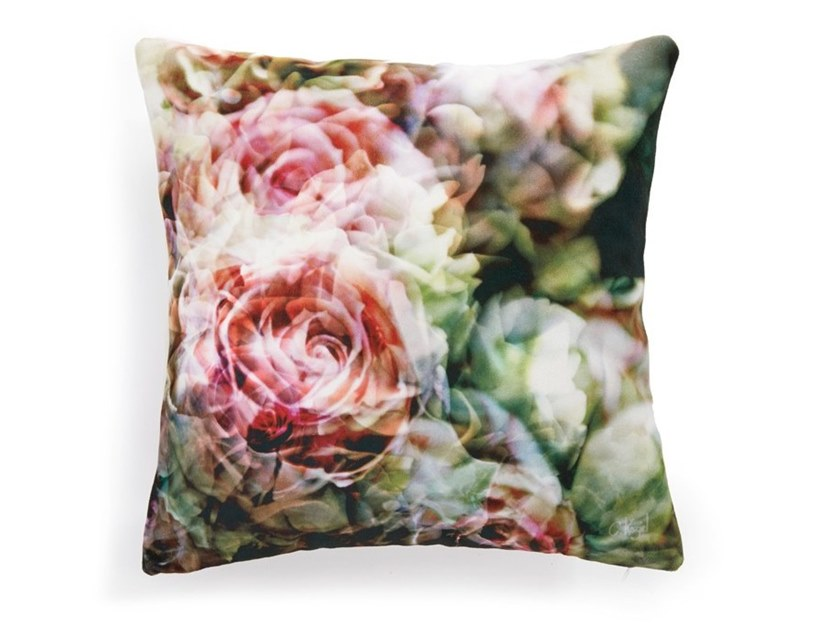 Square cushion with floral pattern ENGLISH ROSES (SERIES 1) by Koziel