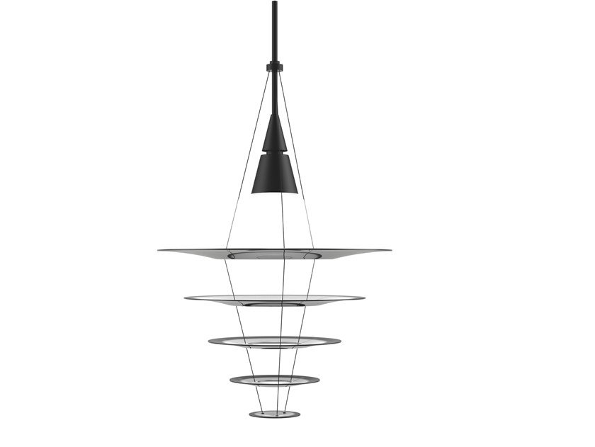 Aluminium pendant lamp ENIGMA 545 by Louis Poulsen