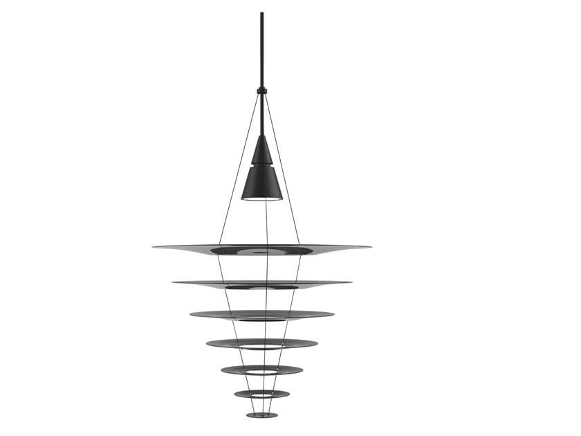 Aluminium pendant lamp ENIGMA 825 by Louis Poulsen