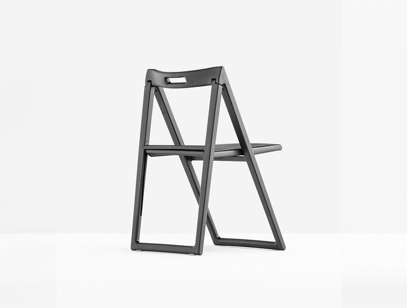 Folding polypropylene chair ENJOY 460 by PEDRALI