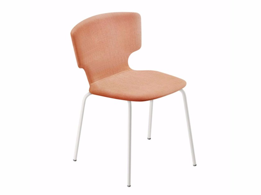Stackable chair with removable cover ENNA CHAIR - 52A by Alias