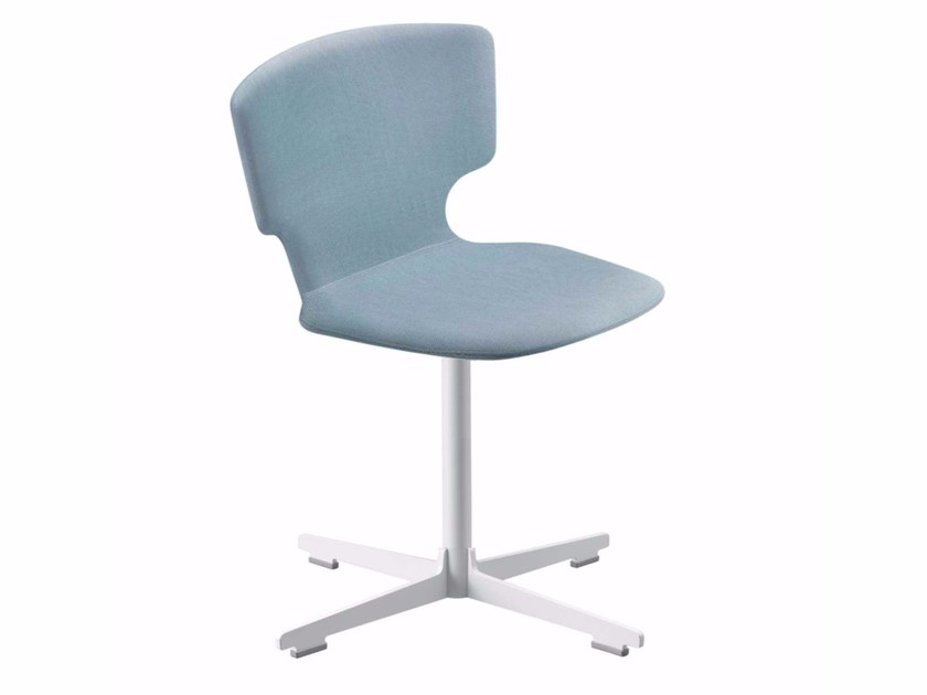 Swivel chair with 4-spoke base ENNA CROSS - 52D by Alias