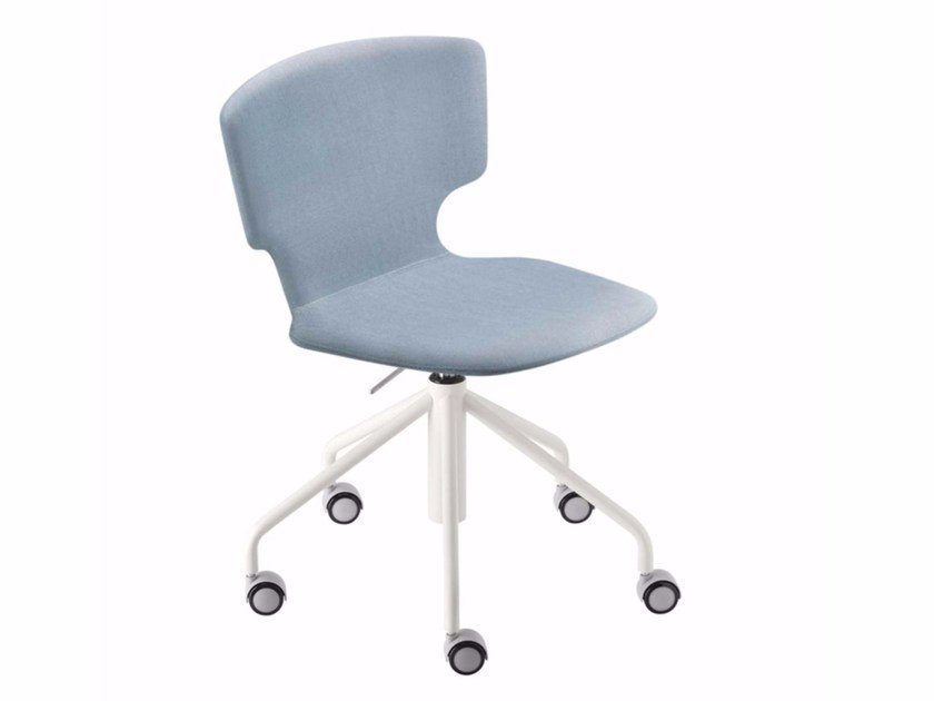 Swivel height-adjustable chair with casters ENNA STUDIO - 52C by Alias