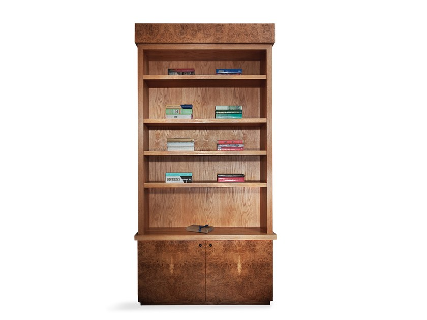 Open solid wood bookcase with built-in lights ENNISMORE | Bookcase by IVAR London