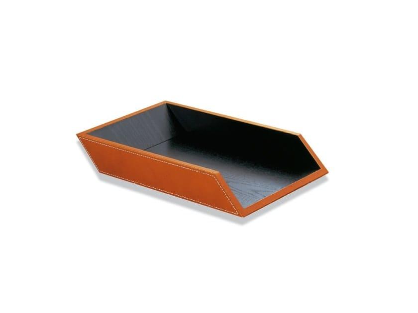 ENRICO VASCHETTA 84 | Tanned leather desk tray organizer