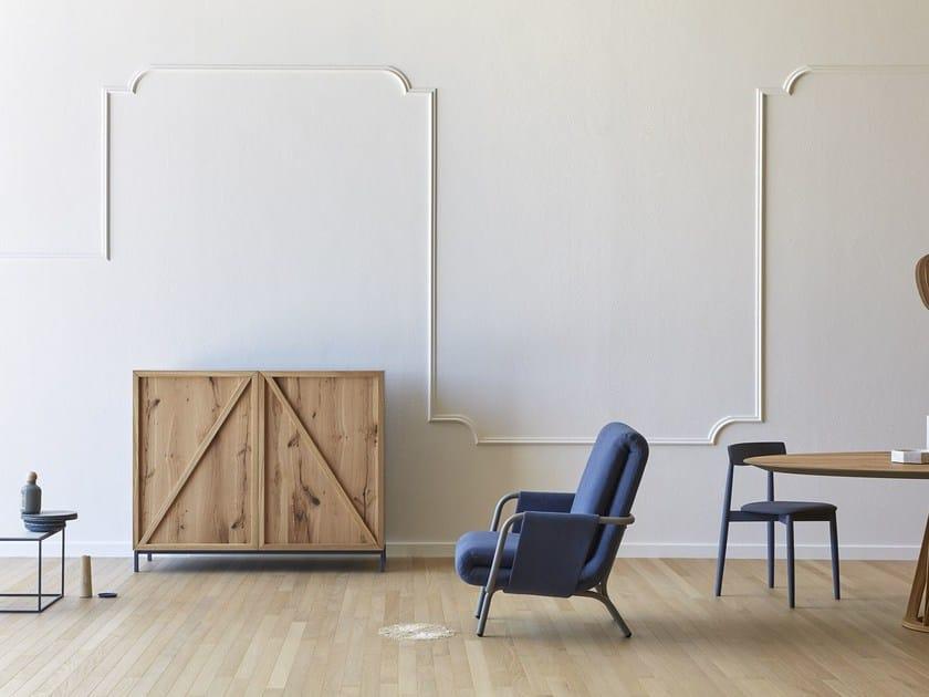 Oak sideboard with doors ENZA by Miniforms