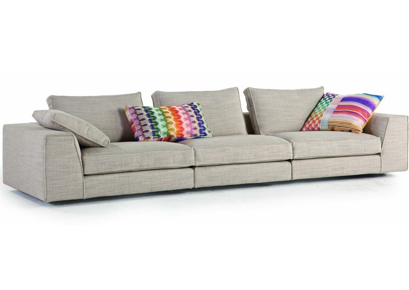 Fabric sofa with removable cover EOLE by ROCHE BOBOIS