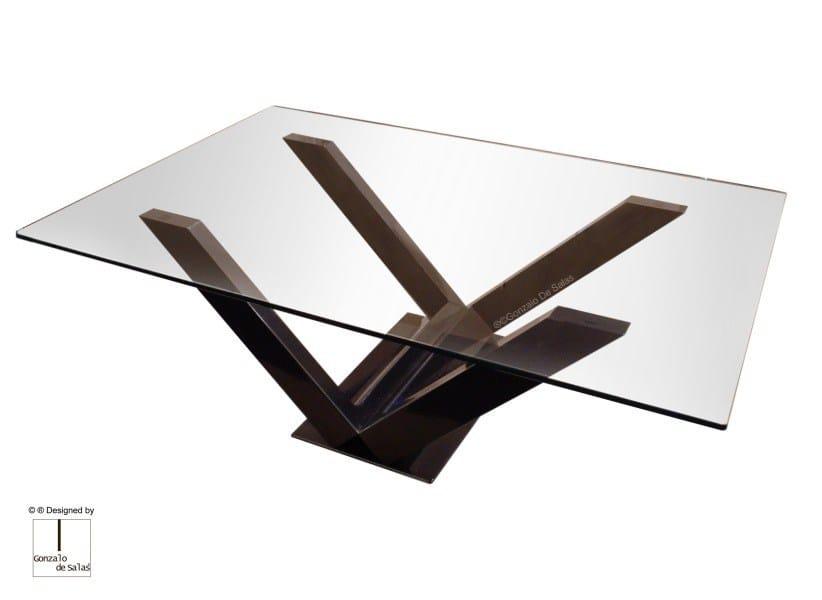 Glass coffee table EOLIA by Gonzalo De Salas
