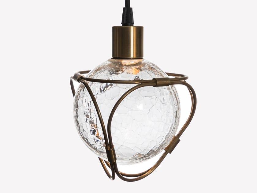 Lampada a sospensione a LED in vetro soffiato EON S1 by ADesignStudio