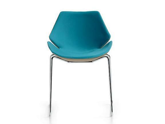 Polyurethane chair / training chair EON | Sled base chair by Diemme
