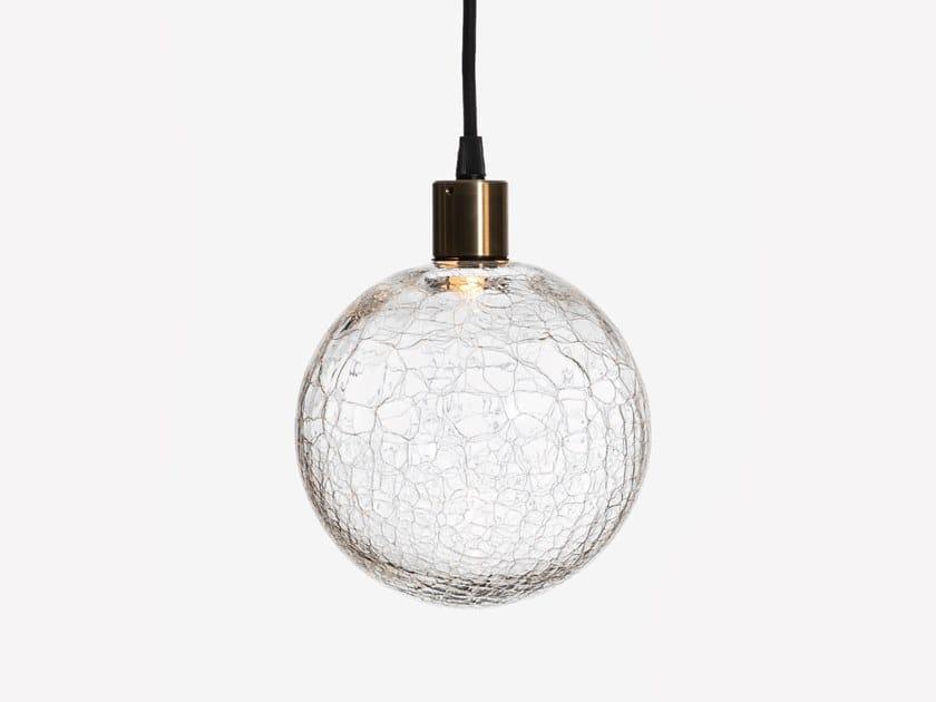 Lampada a sospensione a LED in vetro soffiato EOS SANS S1 by ADesignStudio