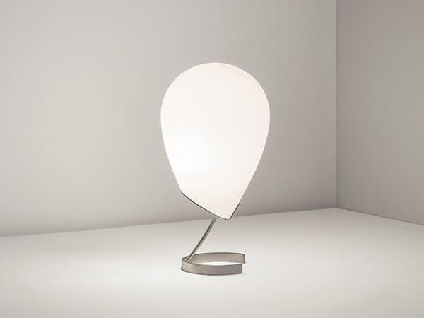 Lampada da tavolo a LED in acciaio e vetro EQUILIBRIO by Firmamento Milano