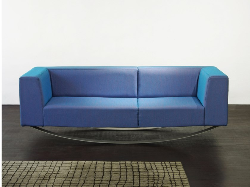 Rocking fabric sofa EQUILIBRISTE by extranorm