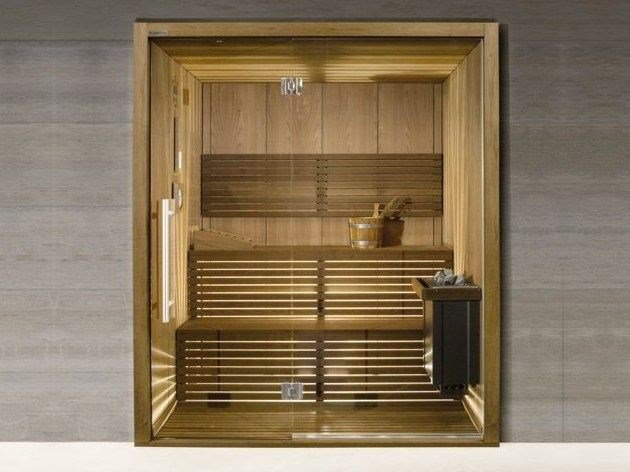 Infrared Finnish sauna with shower EQUILIBRIUM CIRCLE by CARMENTA