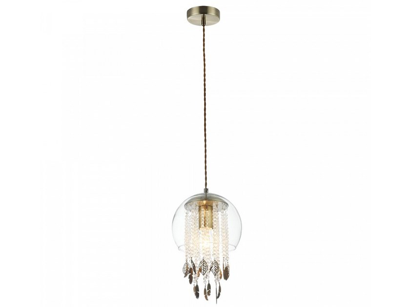 Glass pendant lamp with crystals EQUORIN by MAYTONI