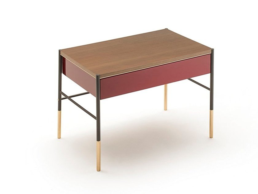 Rectangular bedside table with drawers ERA | Bedside table by Living Divani