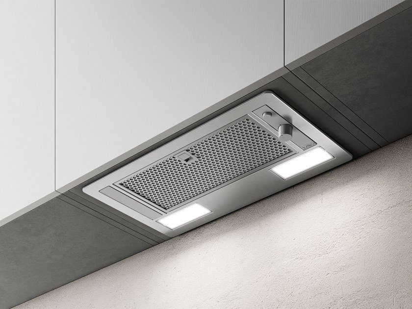 Built-in stainless steel cooker hood with integrated lighting ERA S by Elica