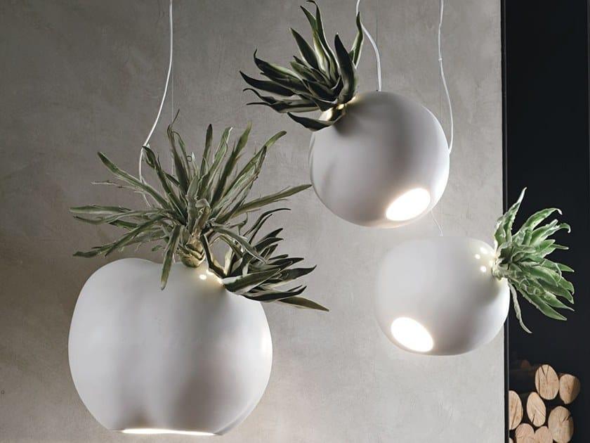 Ceramic pendant lamp ERBARIA by Adriani e Rossi edizioni