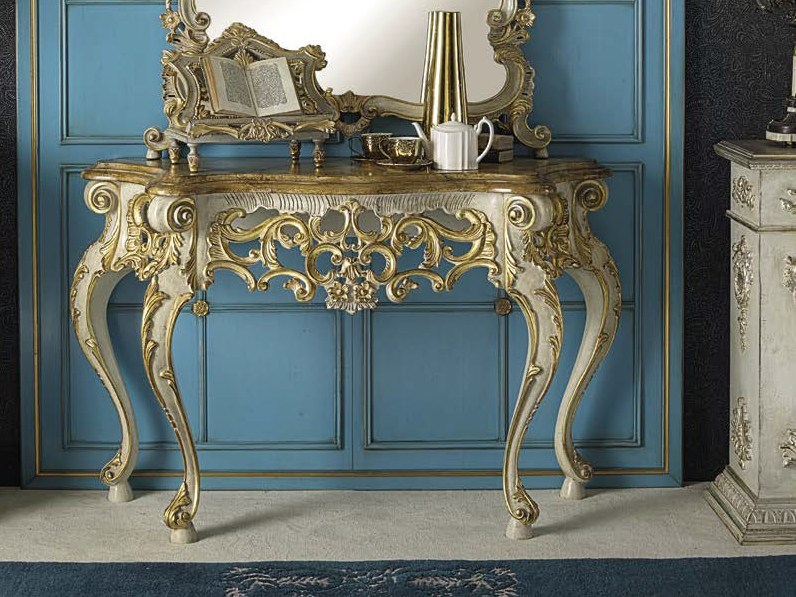 Lacquered solid wood console table ERCOLE | Console table by Arvestyle