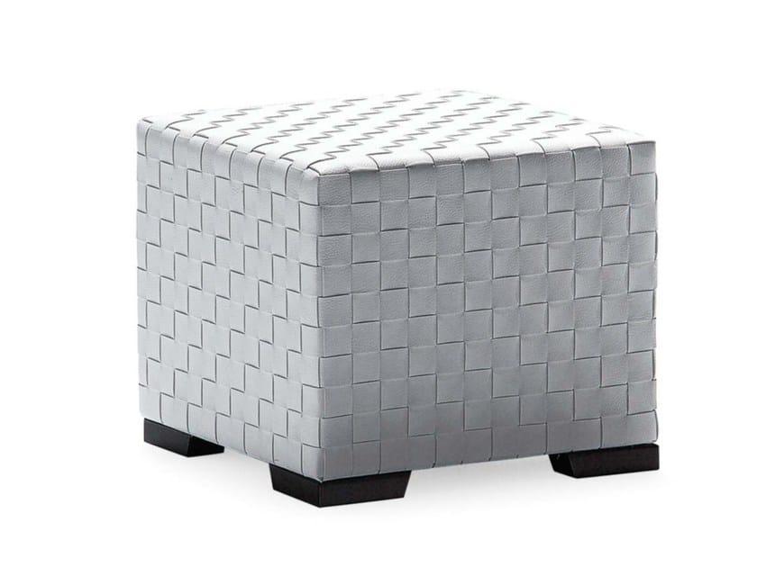 Leather pouf / coffee table ERCOLE TRECY | Pouf by Frigerio Salotti
