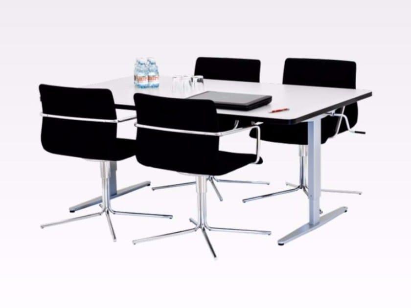 Tavolo da riunione ad altezza regolabile ergo group by ropox - Tavoli regolabili in altezza prezzi ...