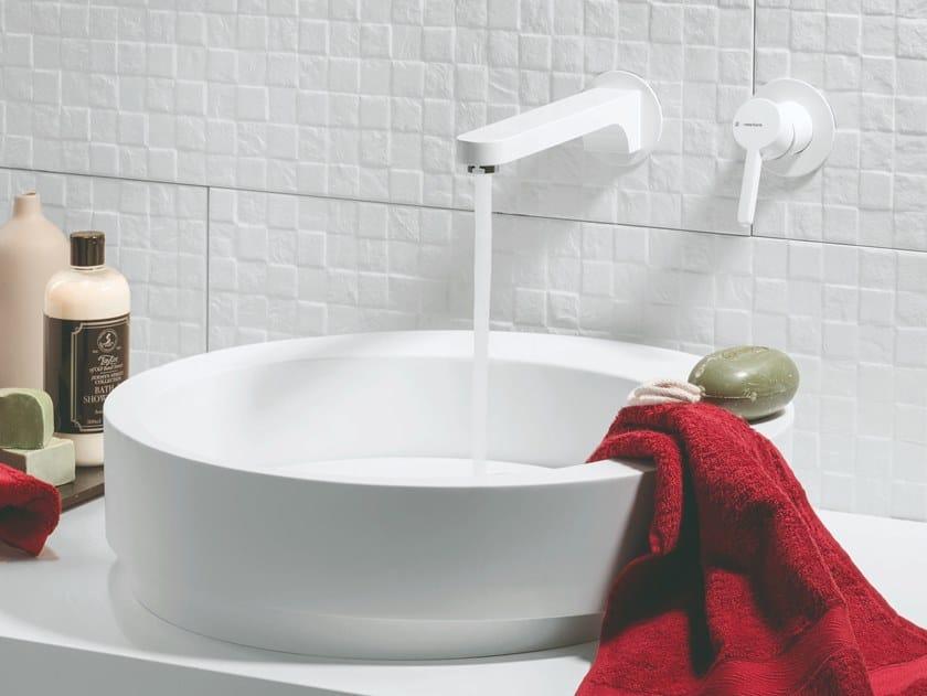 Wall-mounted single handle washbasin mixer ERGO | Wall-mounted washbasin mixer by newform