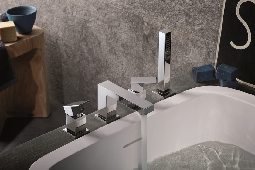 4 hole bathtub set with diverter with hand shower ERGO OPEN | Bathtub set with hand shower by newform