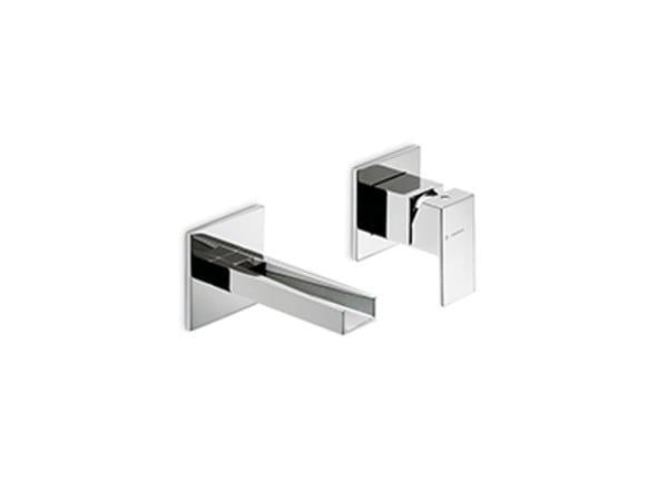 Wall-mounted single handle washbasin mixer ERGO OPEN | Wall-mounted washbasin mixer by newform