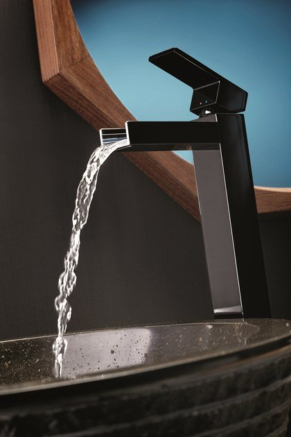 Single handle 1 hole washbasin mixer without waste ERGO OPEN | Single handle washbasin mixer by newform