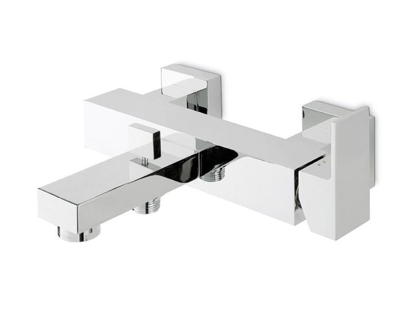 Wall-mounted single handle bathtub mixer with diverter ERGO-Q | Wall-mounted bathtub mixer by newform