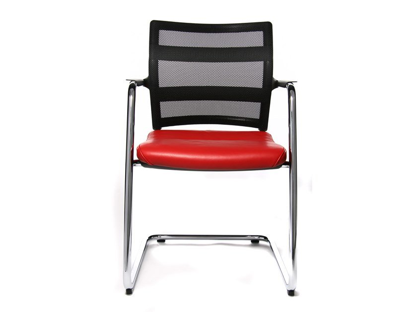 Cantilever reception chair with armrests ERGOMEDIC 110-1 by WAGNER