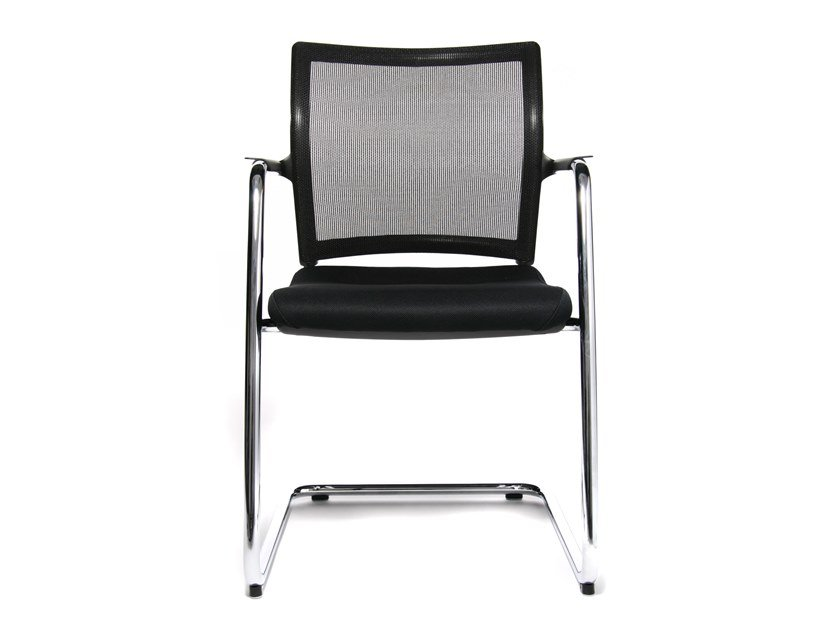 Cantilever reception chair with armrests ERGOMEDIC 110-2 by WAGNER