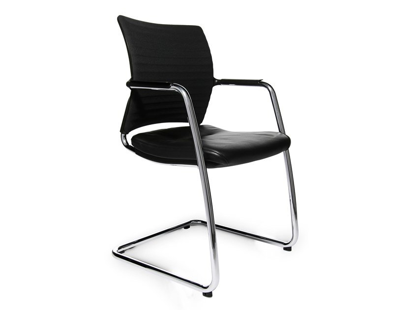 Cantilever reception chair with armrests ERGOMEDIC 110-3 by WAGNER