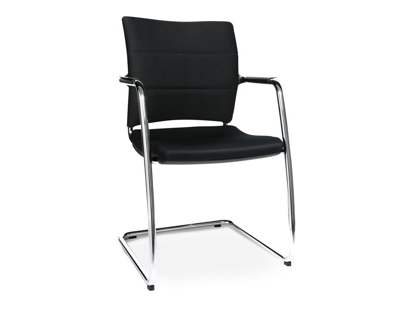 Cantilever reception chair with armrests ERGOMEDIC 110-4 by WAGNER