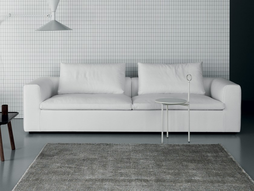 Leather sofa with removable cover ERIC COOL by Md House