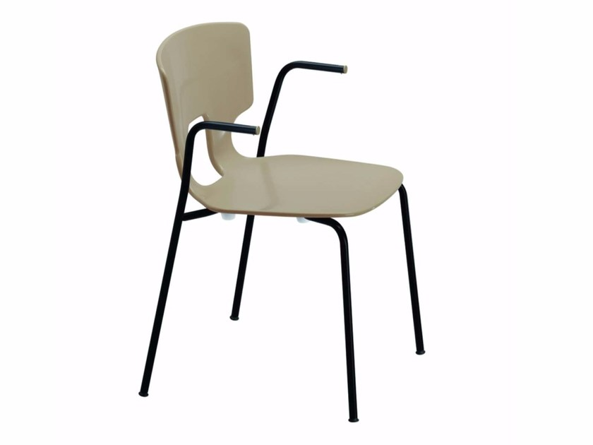 Chair with armrests ERICE ARM - 50H by Alias