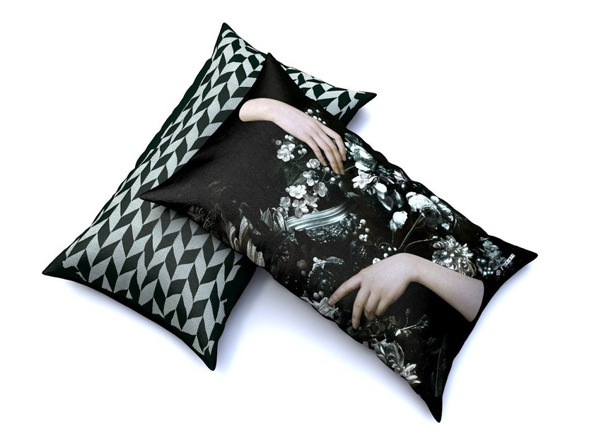 Outdoor polyester cushion with removable cover ERINE by IBRIDE