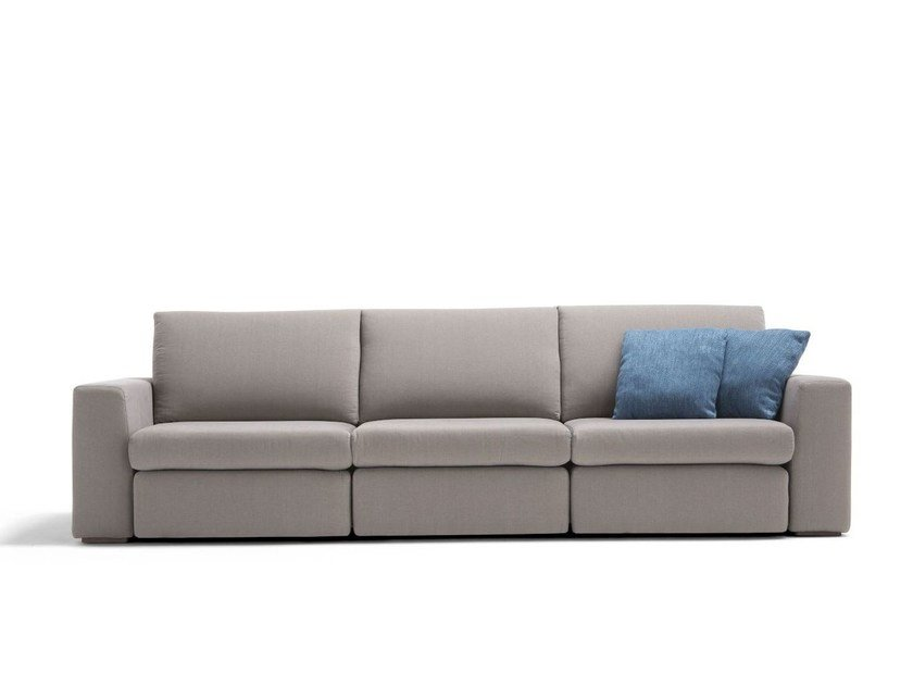 Fabric sofa bed with removable cover ERLEND by Dienne Salotti