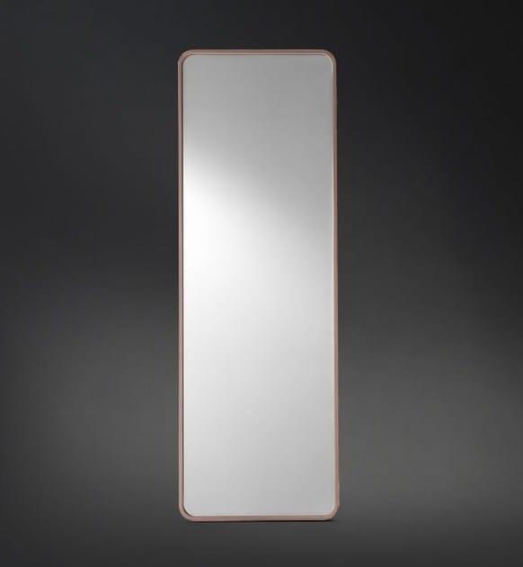 Wall-mounted rectangular mirror ERMES | Mirror by Flou