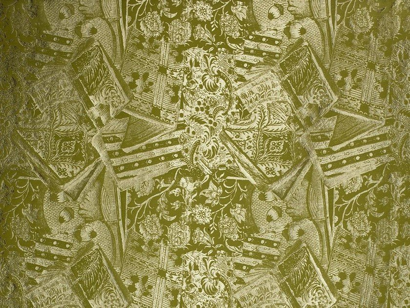 Damask embossed fabric ERMITAGE by Dedar